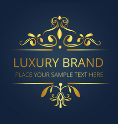 luxury brand premium gold vintage design im vector image