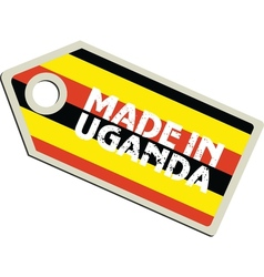 Made in Uganda vector image vector image