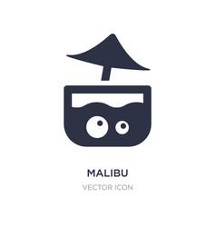 Malibu icon on white background simple element vector