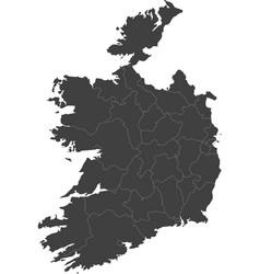 Map of ireland split into regions vector