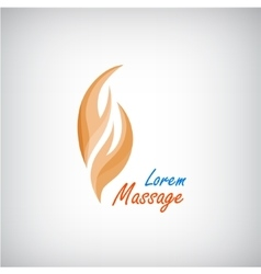 Massage logo 2 hands silhouette icon vector