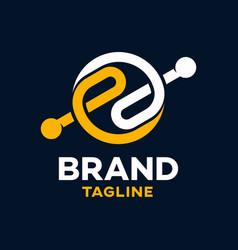 Modern letters ee logo vector