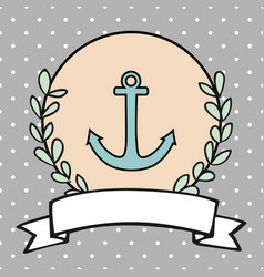 nautical card or sailor invitation vector image