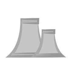 nuclear plant symbol cartoon vector image