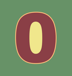 Number 0 sign design template element vector