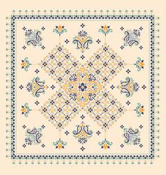 ornament bandana print traditional vector image