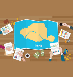 Paris capital france city region economy growth vector
