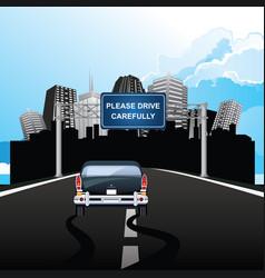 Please drive carefully gantry vector