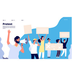 protest landing human rights people vector image