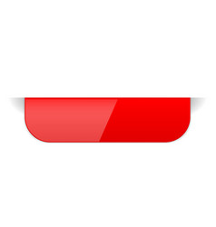 red sticker label with transparent shadow vector image