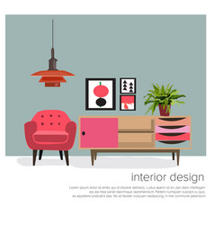 retro furniture vector image