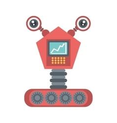 Robot eletronic mechanical modern vector