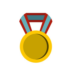 Round medal icon flat style vector