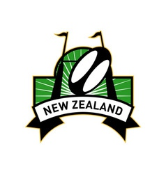 Rugby goal post ball new zealand vector