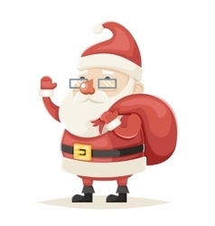 Santa Claus Character Christmas New Year Isolated vector image