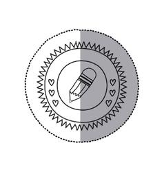 School wooden pencil vector image