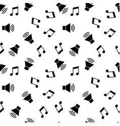 seamless pattern with music symbols vector image
