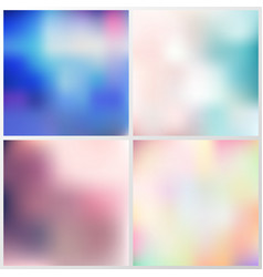 set abstract multicolored blurred background vector image
