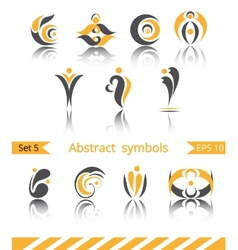 Set of different abstract flat summer and spring vector image