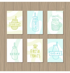 Set of smoothie cards vector image
