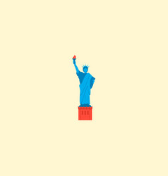 statue of liberty icon flat element vector image