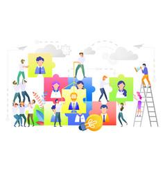 team building teambuilding people workers set vector image