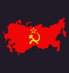Territory of the soviet union isolated vector