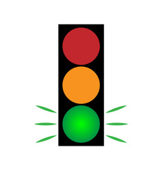 Traffic light green 104 vector