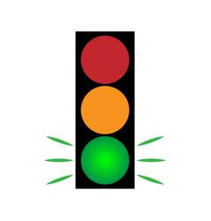 traffic light green 104 vector image