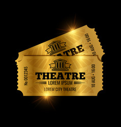 Vintage theatre tickets template vector