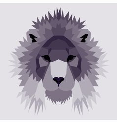 Violet low poly lion vector image