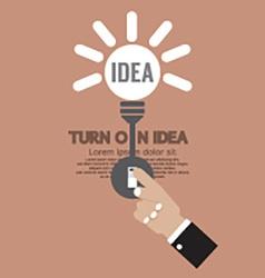 Abstract Lightbulb Turn On Idea Concept Creativity vector image