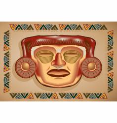 Aztec mask vector image vector image