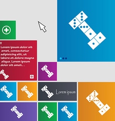 Domino icon sign buttons modern interface website vector