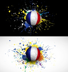 france flag with soccer ball dash on colorful vector image vector image