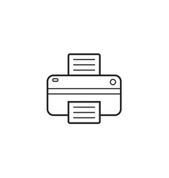 printer line icon outline logo vector image
