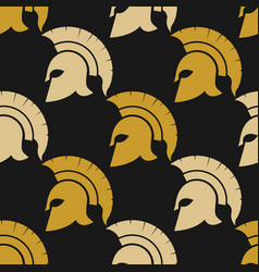 spartan warriors seamless pattern vector image vector image