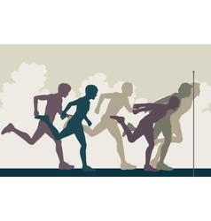 Sprint finish vector image vector image