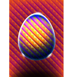 Abstract egg with heat map colors vector image vector image