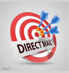 direct mail target dart icon vector image vector image