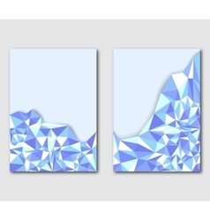 Modern polygonal design template leaflets flyers vector image