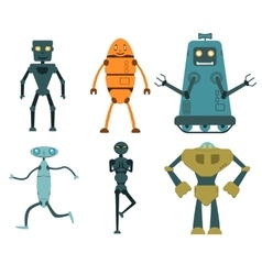 Robot set in flat style vector image