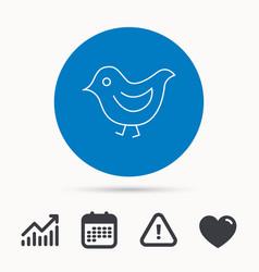 Bird icon chick with beak sign vector