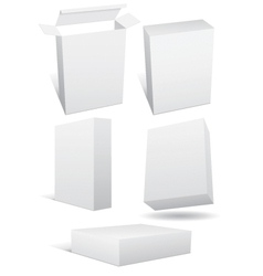 blank boxes vector image