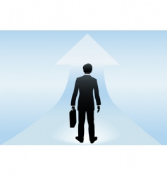 businessman stands vector image vector image