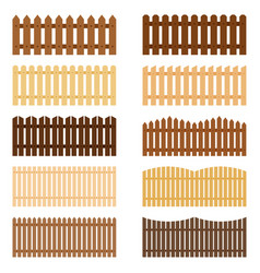 set of fences vector image vector image