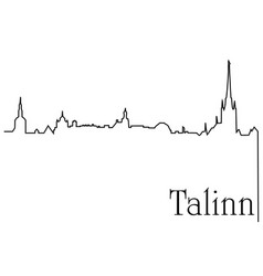 talinn city one line drawing background vector image vector image