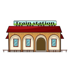 A train station vector image vector image