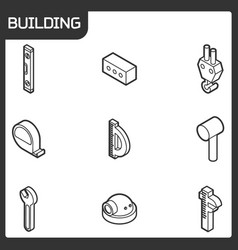 building outline isometric icons vector image vector image