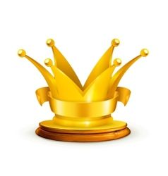 Golden crown vector image vector image